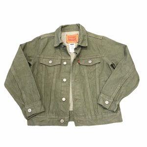 Boy's Levi's Classic Denim Trucker Jacket Green